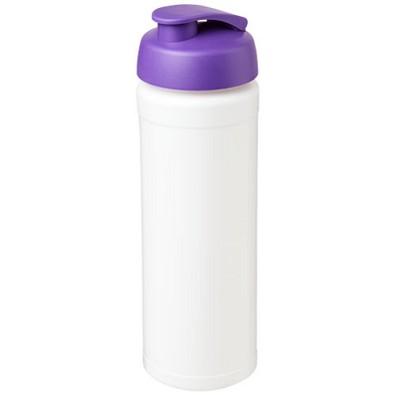 Baseline Plus grip Sportflasche mit Klappdeckel, 750 ml, weiss/lila
