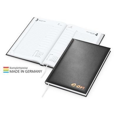 geiger notes Buchkalender Basic Bestseller, inkl. Kupferprägung, schwarz