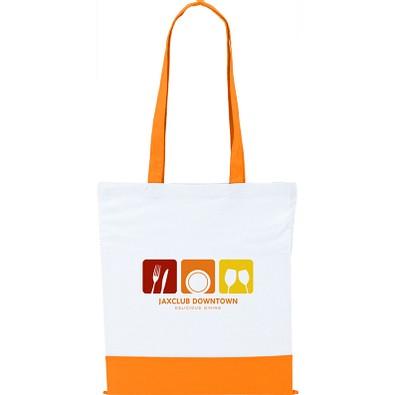 Baumwolltasche Two Colour Bag, weiß/orange