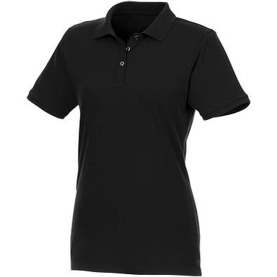 ELEVATE Damen Kurzarm Poloshirt Beryl aus Bio-Recyclingmaterial, schwarz, XXL