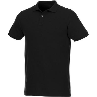 ELEVATE Herren Kurzarm Poloshirt Beryl aus Bio-Recyclingmaterial, schwarz, XXXL