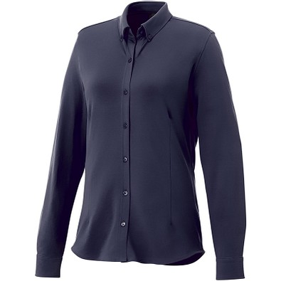 ELEVATE Damen Langarm Bluse Bigelow, dunkelblau, M