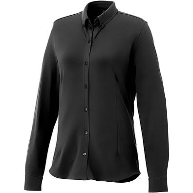 ELEVATE Damen Langarm Bluse Bigelow, schwarz, XL