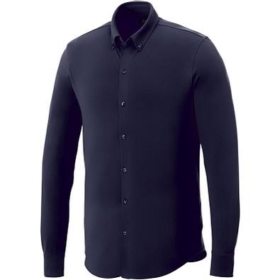 ELEVATE Herren Langarm Hemd, dunkelblau, XL