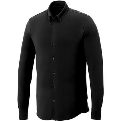 ELEVATE Herren Langarm Hemd, schwarz, S
