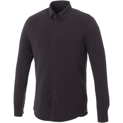 ELEVATE Herren Langarm Hemd, grau, S