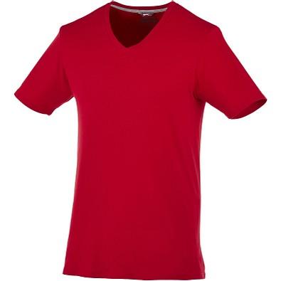 Slazenger™ Herren T-Shirt Bosey mit V-Ausschnitt, dunkelrot, XXL