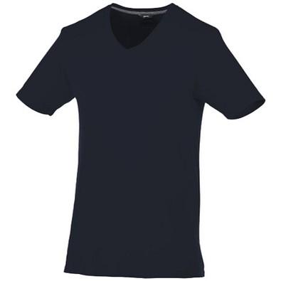 Slazenger™ Herren T-Shirt Bosey mit V-Ausschnitt, dunkelblau, XS