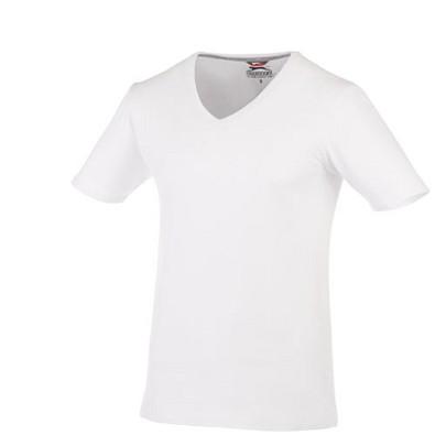 Slazenger™ Herren T-Shirt Bosey mit V-Ausschnitt, weiß, XS