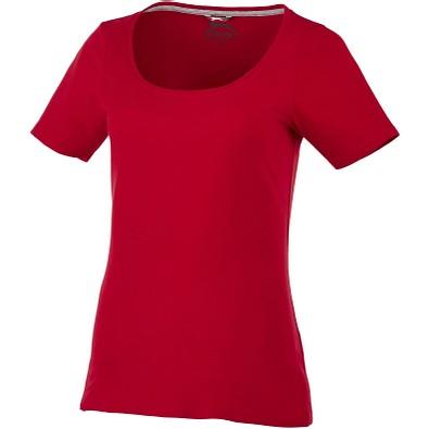 Slazenger™ Damen T-Shirt Bosey mit weitem Rundhalsausschnitt, dunkelrot, S