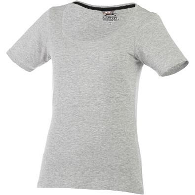 Slazenger™ Damen T-Shirt Bosey mit weitem Rundhalsausschnitt, sportgrau, M