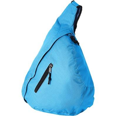 Nylon-Schulter-Bag, aquablau
