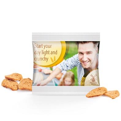 Brot Chips Miditüte, inkl. Druck, kompostierbare Folie, transparent