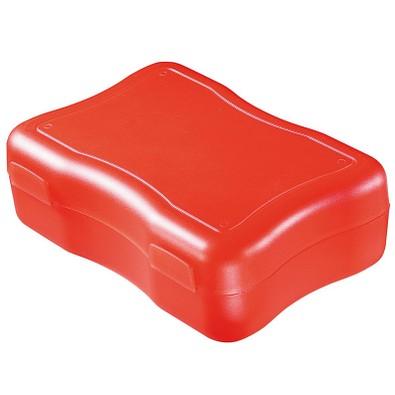 Brotzeitdose Wave, 17,8 x 12,2 cm, groß, standard-rot