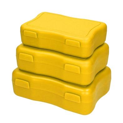 Brotzeitdosen Wave, 3er Set, standard-gelb