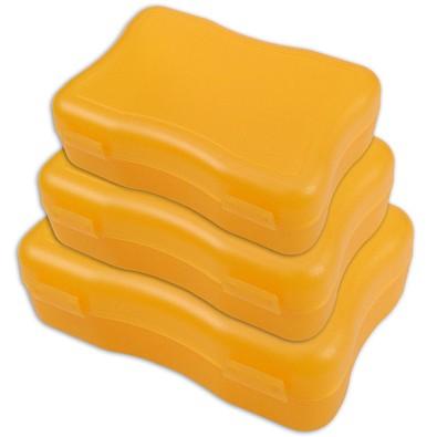 Brotzeitdosen Wave, 3er Set, trend-orange PP