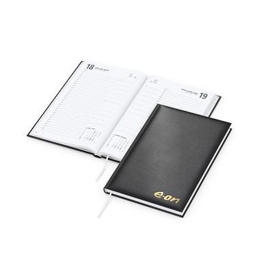 geiger notes Buchkalender Basic Bestseller, goldprägung, schwarz