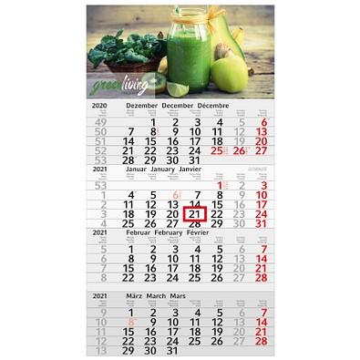 geiger notes 4-Monats-Wandkalender Recycling  2021