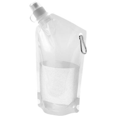 Cabo Wasserbeutel mit Karabiner, 600 ml, transparent klar