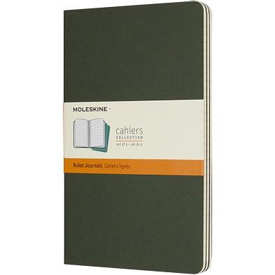 MOLESKINE® Notizbuch Cahier Journal L, liniert, myrtle green