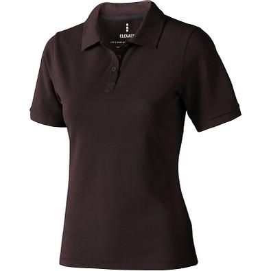 ELEVATE Damen Poloshirt Calgary, braun, S