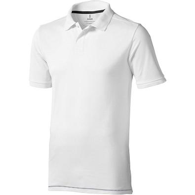 ELEVATE Herren Poloshirt Calgary, weiß,dunkelblau, XL