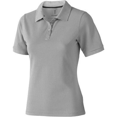 ELEVATE Damen Poloshirt Calgary, grau meliert, S