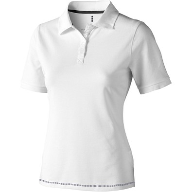 ELEVATE Damen Poloshirt Calgary, weiß,dunkelblau, M