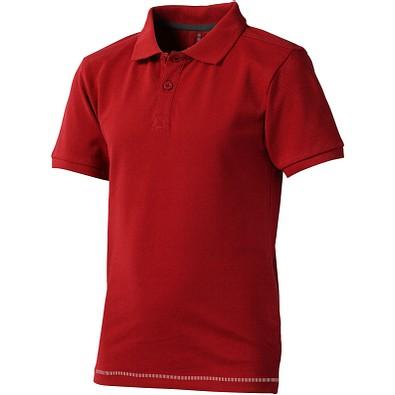 ELEVATE Kinder Poloshirt Calgary, rot,weiss, 116