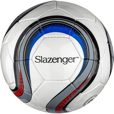 Slazenger™ Fußball mit 32 Segmenten Campeones, weiß,grau