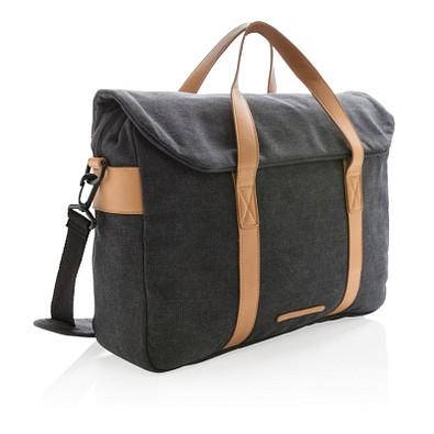 XD COLLECTION Laptop-Tasche Canvas PVC frei, schwarz