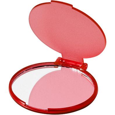 Carmen Taschenspiegel, transparent rot
