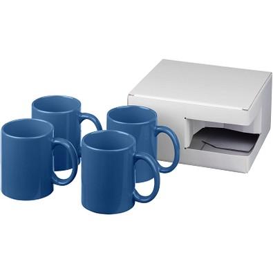 Ceramic Geschenkset mit 4 Bechern, 4x 330 ml, blau
