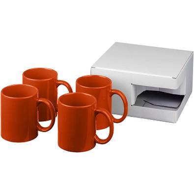 Ceramic Geschenkset mit 4 Bechern, 4x 330 ml, orange