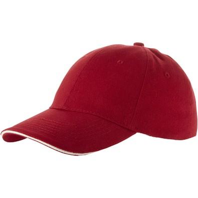 Slazenger™ Unisex Kappe mit 6 Segmenten Challenge, rot