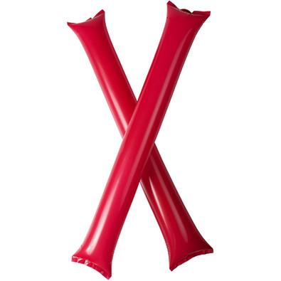 Cheer 2 aufblasbare Klatsch-Stangen, rot