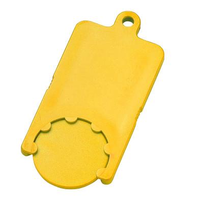 Chip-Schlüsselanhänger Rectangle, standard-gelb