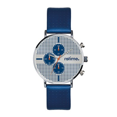 retime® Chronograph Design I, blau/silber