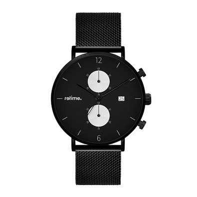 retime® Chronograph Design XVIII, schwarz