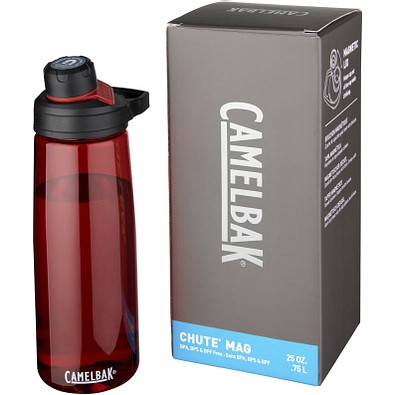 Chute Mag 750 ml Tritan™ Sportflasche, rot