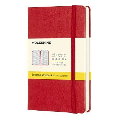 MOLESKINE® Notizbuch Classic Hardcover Taschenformat, kariert, scarlet red
