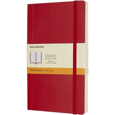 MOLESKINE® Notizbuch Classic Softcover L, liniert, scarlet red