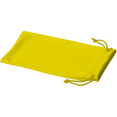 Clean Mikrofaserbeutel für Sonnenbrillen, gelb