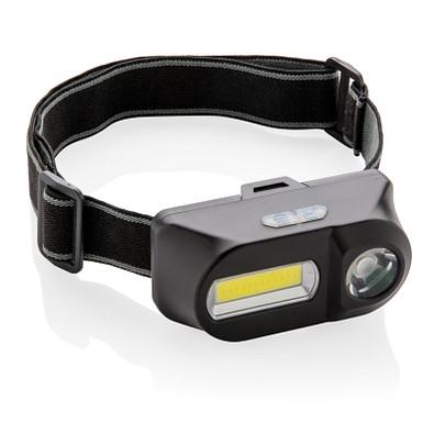 XD COLLECTION Stirnlampe COB und LED, schwarz