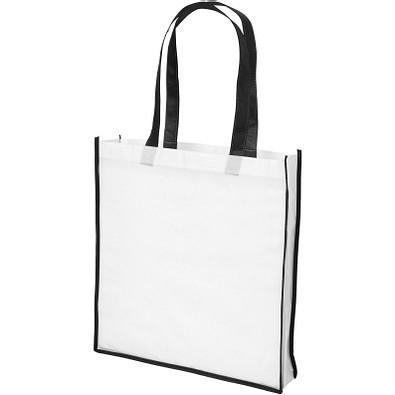 Contrast NonWoven grosse Einkaufstasche, weiss,schwarz