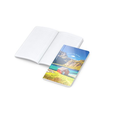 geiger notes Notizbuch Copy-Book White Pocket Bestseller, 4C-Digital, gloss
