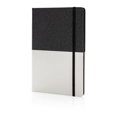 XD COLLECTION Notizbuch Deluxe DIN A5 PU, schwarz/weiß