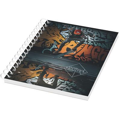 Desk-Mate® A6 Notizbuch mit Kunststoff Cover und Spiralbindung, weiss
