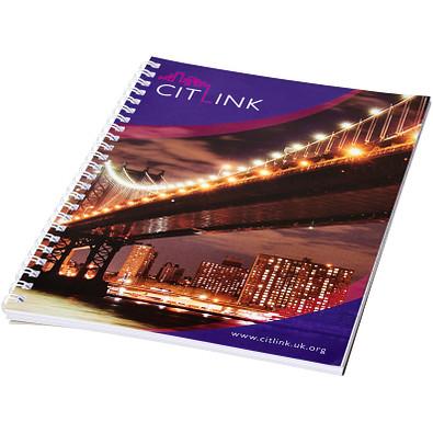 Desk-Mate® Wire-O-Bindung DIN A4 Notizbuch, weiss, 50 Blatt