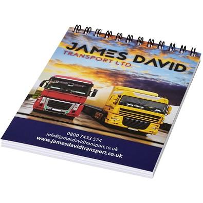 Desk-Mate® Wire-O-Bindung DIN A6 Notizbuch, weiss,schwarz, 50 Blatt